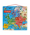 PUZZLE MAGNETIQUE EUROPE - JANOD